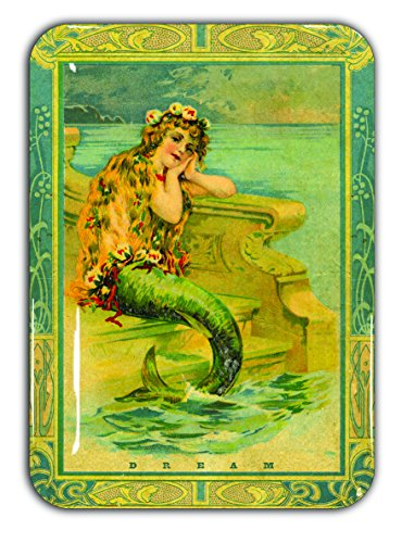 "ArtBird: Mermaid Dream. 5"" x 7"" Fun Decorative Tray. USA Artist Designed. Dishwasher Safe. 100% Melamine"