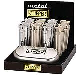Sale! Clipper Jet Flamme Metall Silber Glänzend Sturm Feuerzeug Edel in Geschenkbox