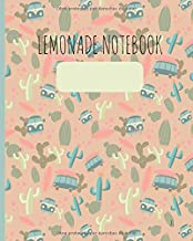 """Lemonade Notebook: Libreta/cuaderno/notebook Journal Diario 400 páginas numeradas y punteadas (dotted) tamaño (medidas/size) 20x25,4 cm (8x10"""" in) con tapa flexible, mate y papel color blanco 90 GSM - talla XL"""