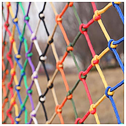 SSWZHANG Parque Infantil De La Cinta Neto Patios Y Barandilla Escaleras Multi-Color De La Cuerda De Red De Escalada Equipo De La Diversión De Techo Cuerda De Nylon De(Size:1 * 6m (3 * 20ft))