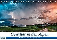 Gewitter in den AlpenAT-Version (Tischkalender 2022 DIN A5 quer): Atemberaubende Gewitterbilder aus den Alpen (Monatskalender, 14 Seiten )