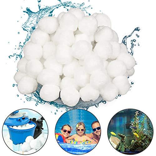 Sporgo Filter Balls, Filterbälle Pool für Sandfilteranlagen 700g Pool Filter Balls Sandfilter Ersetzen 50kg Filtersand Poolzubehör Poolreiniger für Sandfilteranlagen