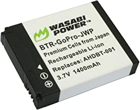 Wasabi Power Battery for GoPro HD HERO2, GoPro Original HD HERO and GoPro AHDBT-001, AHDBT-002