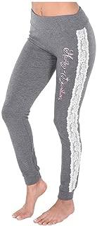 Harley-Davidson Women's Love My Harley Too Lace Trim Lounge Pants - Gray