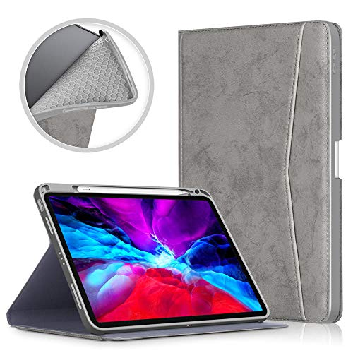 MENGYI Tablet case cover Cover For Ipad Air 4 10.9 Inch 2020 Case Multi Viewing Angle Stand Cover For Ipad Air 4th Generation Case With Pencil Holder (Color : Gray, Size : Air 4 10.9 inc)