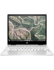 HP Chromebook x360 12b-ca0005nf Ordinateur Ultraportable Convertible et Tactile 12'' HD IPS Blanc (Intel Celeron, RAM 4 Go, eMMC 32 Go, AZERTY, Chrome OS)