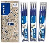 Pilot Frixion - Confezione da 9 ricariche per penna a sfera, tratto 0,7 mm, colore: Blu...