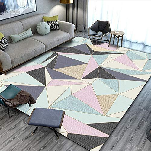 Kinderteppiche Mädchen Geometrisches Mosaik Schlafzimmer Nachttisch Wohnzimmer Studie Babyzimmer...