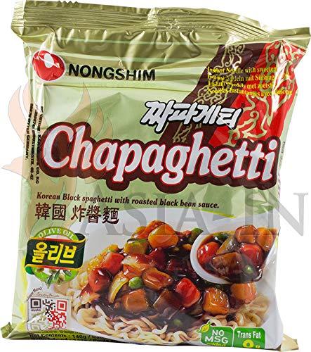 Nongshim Chapaghetti Koreanische Instant Nudeln mit schwarzer Bohnensauce 140g