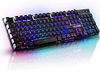 Mishuai Beleuchtete Spieletastatur verdrahteter Laptop USB-mechanische Gef hltastatur professionelle Spieltastatur Schätzpreis : 33,62 €