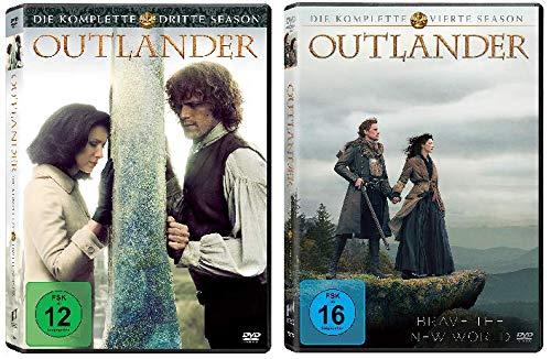 Outlander - Die komplette Season / Staffel 3+4 im Set - Deutsche Originalware [10 DVDs]