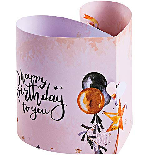 Original Payperheart Elegante Geburtstagskarte | Pop Up Karte Geburtstag | Einzigartiges Geburtstagsgeschenk | 1x Karte + 1x Umschlag