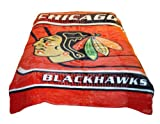 Chicago Blackhawks Blanket- Chicago Blackhawks Merchandise is Perfect for Home Decor, Gifts, Accessories, Memorabilia, Collectables- This is a Soft, Plush, Thick, Queen/Full Size Mink Blanket-THIS IS NOT A CHEAPLY MADE FLEECE THROW-Life Time Guarantee