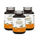 Bio Kurkuma Kapseln im Glas – 40-fache Bioverfügbarkeit ohne Pfeffer – Mehrfach Ausgezeichnet...