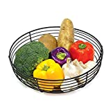 【ELEGANT & SLIM DESIGN】 Metal Fruit Bowl is made of premium curved wire with high quality and durable powder coating. The Elegant and matte finish fruit basket holds a lot of produce and will enhance your kitchen decor, organization or storage.Easy t...