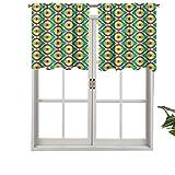 Cenefas de cortina con bolsillo para barra, cortinas Groovy Bauhaus, diseños artísticos, geométricos, minimalistas, retro, 1 juego de 1, 137 x 45 cm para ventana de cocina