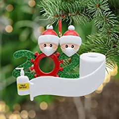 2020 Family Personalized Ornament Quarantine and Toilet Paper Crisis - 2020 Year to Remember Family Ornament This Personalized Christmas Ornament is Made of Lightweight Polyresin Carefully Hand Painted, and Comes with a Ribbon Loop for Easy Hanging o...