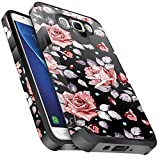 Galaxy J3 V / J3V Case,Galaxy Sky/Amp Prime/Express Prime / J3 (2016) 6 Case, Miss Arts Slim Cover Dual Layer Protective Case for Samsung Galaxy J3 V 2016 -Rose Gold Flower