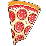 BigMouth Inc. Pizza Slice Fuzzy Blanket, Plush Throw Blanket
