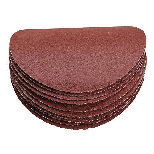 XVCHQIN 10 Uds 3 pulgadas 75mm gancho y bucle de disco de lijado pulido hojas de arena disco de papel de lija redondo hojas de arena de grano 80-3000,1500