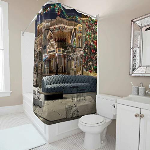 NiTIAN House, gedrukt douchegordijnen van hoge kwaliteit douchegordijn voor badkamer badkuip 180 x 200 cm
