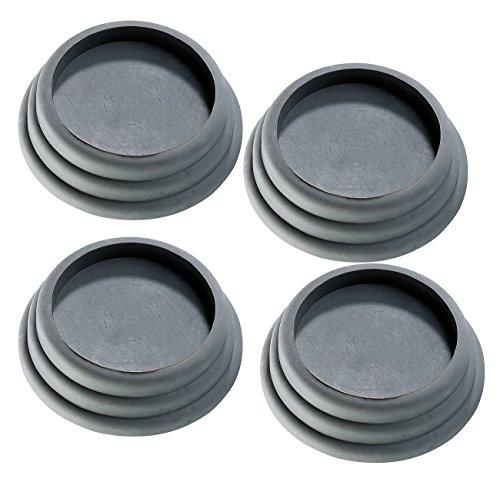 infactory Vibrationsdämpfer: 4er-Set universell einsetzbare Vibrations-Dämpfer, schwarz (Vibrationsdämmung)