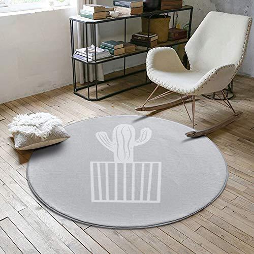 MSM Furniture Round Soft Anti Slip Area Rug,Swing Chair Hanging Egg Hammock Chair Floor Mat Rugs,Indoor Velvet Geometric Pattern Carpet Light Grey-a 3'3 Diameter(100cm)