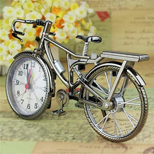 DW&HX Réveil rétro vélo, Vintage Chiffre Arabe Créatif Mur décoration Radio-réveils-A 22x13x6cm/8.66x5.12x0.85in