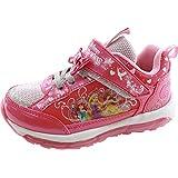 【光る靴】【ディズニー】【ディズニー プリンセス】 Disney ディズニー プリンセス アリエル ラプンツェル ベル 女の子 マジック スリッポン キッズスニーカー 子供靴  美女と野獣 7224 (17cm, ピンク)