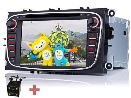 iFreGo 7 Zoll 2 Din Autoradio Für Ford C-max Mondeo S-Max, Autoradio Navigation,DVD GPS RDS USB SD,autoradio mit Bluetooth,Windows CE