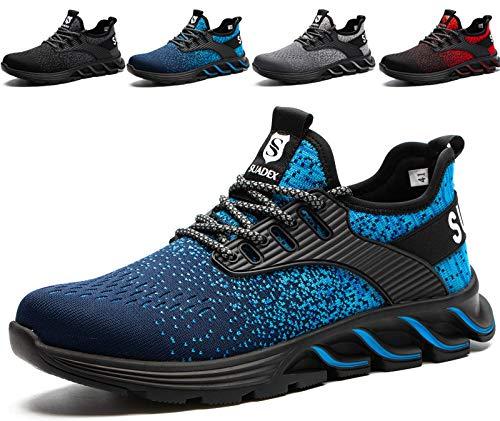 Zapatos de Seguridad para Hombre con Puntera de Acero Zapatillas de Seguridad Trabajo,...
