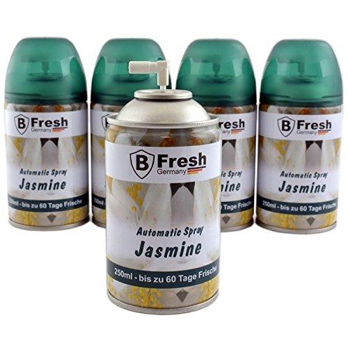 250 ml JASMIN luchtverfrisser, navulling, geurdispenser, luchtverfrisser, geurspray, geurblikje - voor automatische geurdispenser