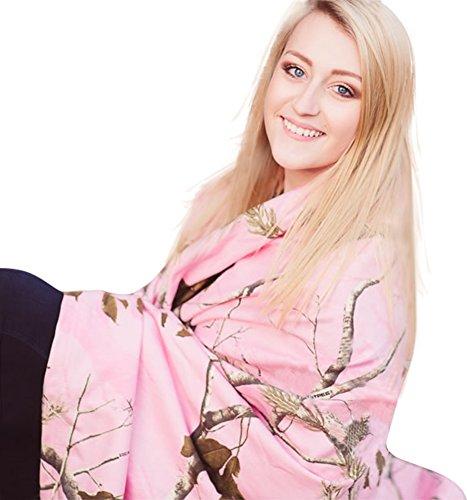 Realtree Pink Camo Throw Blanket 50x60 Made from Soft Sweatshirt Fabric