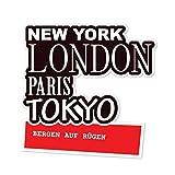 JOllify Aufkleber - BERGEN AUF RÜGEN - Farbe: Design: New York, London, Paris, Tokyo
