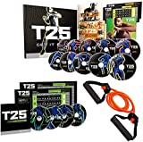 ZONEV Shaun T's T25 HIIT brûlant les graisses Programme de fitness DVD 14 pcs avec bandes de résistance et guide nutritionnel cardio entraînement en intérieur (comme vu à la télévision)