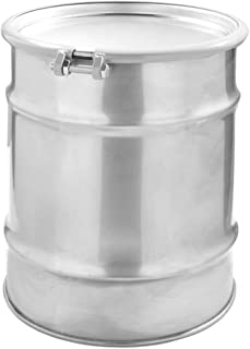 20 Gallon Stainless Steel Drums, Open Head