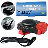 Yuauy Red Car Heater Vehicle 2 in1 Portable 30 Second Fast Heating Quickly Defrosts Defogger 12V...