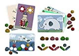 Rainbow Pebbles Activity Set - Junior - Eco-Friendly - 36 Pebbles + 8 Activity Cards - Ages 18m+ - Sorting and Stacking for Fine Motor Skills