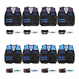 POKONBOY Tactical Vest Kits Fit for Nerf Guns N-Strike Elite Series for Kids Birthday Toy Gun Wars, Basement or Backyard Games, Birthday Party Supplies with Kids Vests, Face Masks, Protective Glasses