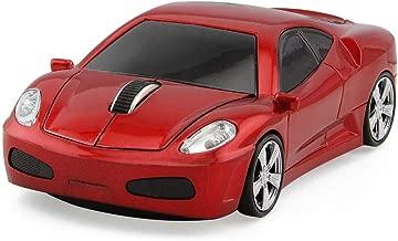 ECOiNVA Ferrari Wireless Sports Car Mouse Optical 2.4G Nano USB AA Battery Desktop Laptop Mice (Red)