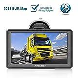 AWESAFE Navigationsgerät LKW PKW Navi 7 Zoll Sprachführung Touchsreen 8GB/256M mit Bluetooth Navigation 2019 Europa Maps Lebenslang Kartenupdates