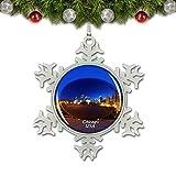 Umsufa USA America Cloud Gate、Millennium Park Chicago Christmas Ornament Tree Decoration Crystal Metal Souvenir Gift