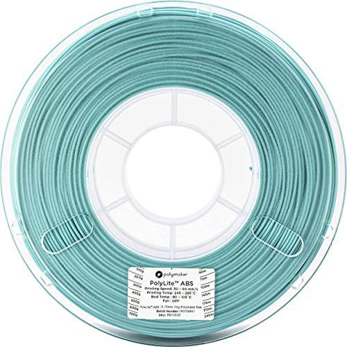 3Dプリンタ―用フィラメント PolyLite ABS 1.75mm径 1kg巻 (ティール)