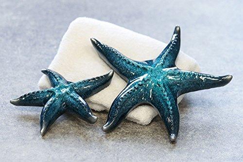 CH Trading Decorazione da bagno stella marina blu. Smaltata – Diametro: 24 cm.