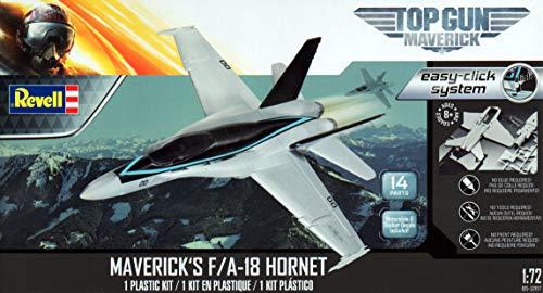 Revell RMX851267 1:72 Top Gun Maverick F-18 Hornet [Sistema de fácil clic] [Kit de construcción de modelos]