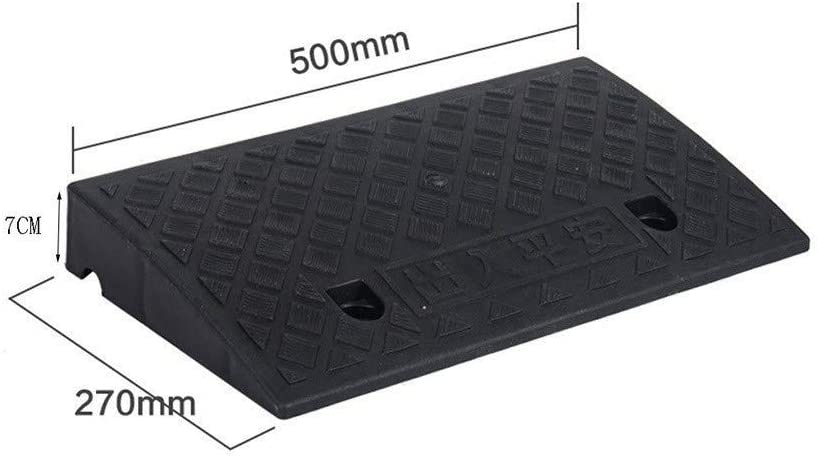 Easy to use Motorcycle Ramps Plastic Non-Slip Uphill Pad Residential Community Wheelchair Ramps Child Bicycle Safety Ramps 7-13CM Eliminate Step Height Difference