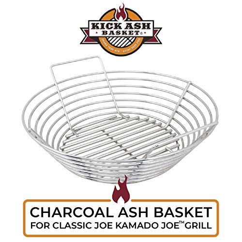 Kick Ash Basket Stainless Steel Charcoal Ash Basket, Fits Kamado Joe Grill, Classic Joe