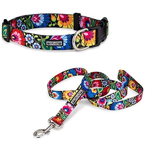 Lucky Love Dog Halsband und Leine für kleine Hunde, Motiv: Amsel, klein