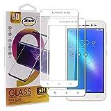 Guran [2 Pezzi Pellicola Vetro Temperato per ASUS Zenfone Live ZB501KL (5.2pollice) Smartphone Copertura Completa 9H Durezza HD Pellicola Protettiva - Bianco