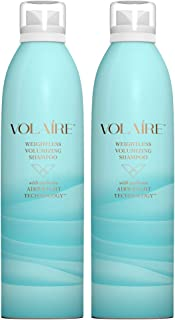 Volaire – Weightless Volumizing Shampoo – Everyday Effortless Volume, Sulfate Free | Paraben Free | Colored Treated Hair Safe – Duo Pack/10.5 Ounces Each